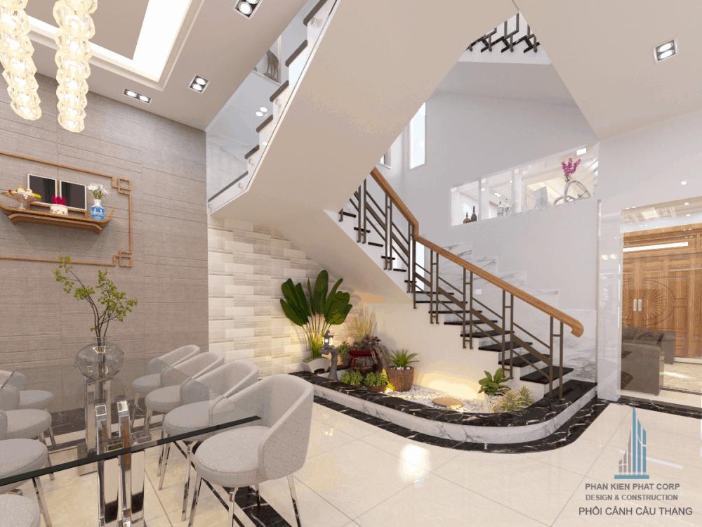 Thiết kế cầu thang biệt thự hiện đại view 3