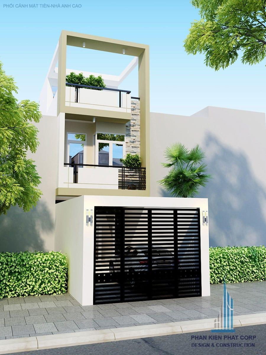 thiết kế nhà phố 3 tầng 4x15m