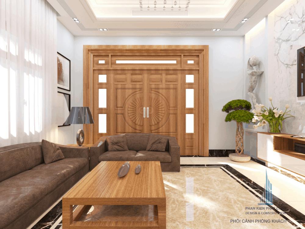 Thiết kế phòng khách biệt thự phố đẹp view 1