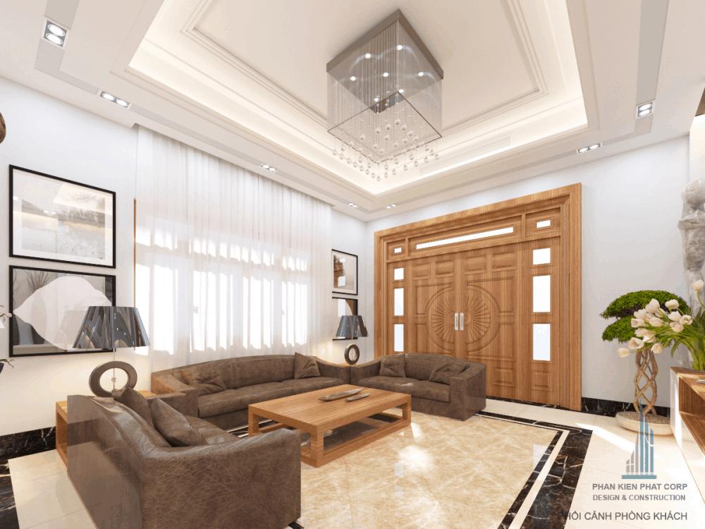 Thiết kế phòng khách biệt thự phố đẹp view 3