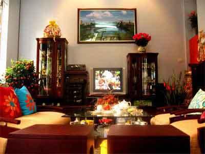 Trang trí nội thất phòng khách theo Phong thủy đón tết