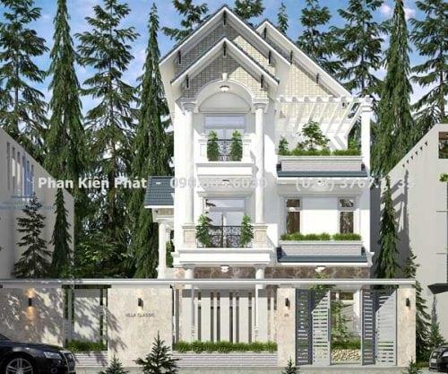 Biệt thự 3 tầng mái thái cổ điển chị Liên Đà lạt