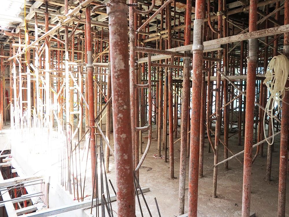 Công tác chuẩn bị đổ sàn lầu 2 góc view 3