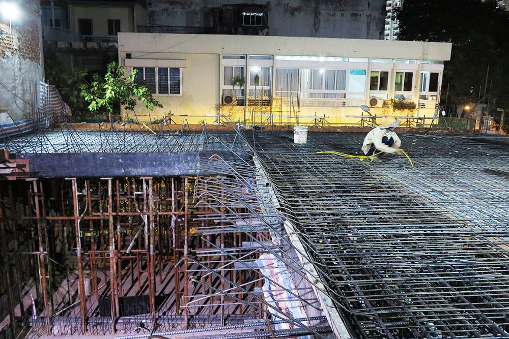Công tác chuẩn bị đổ sàn lầu 2 góc view 5