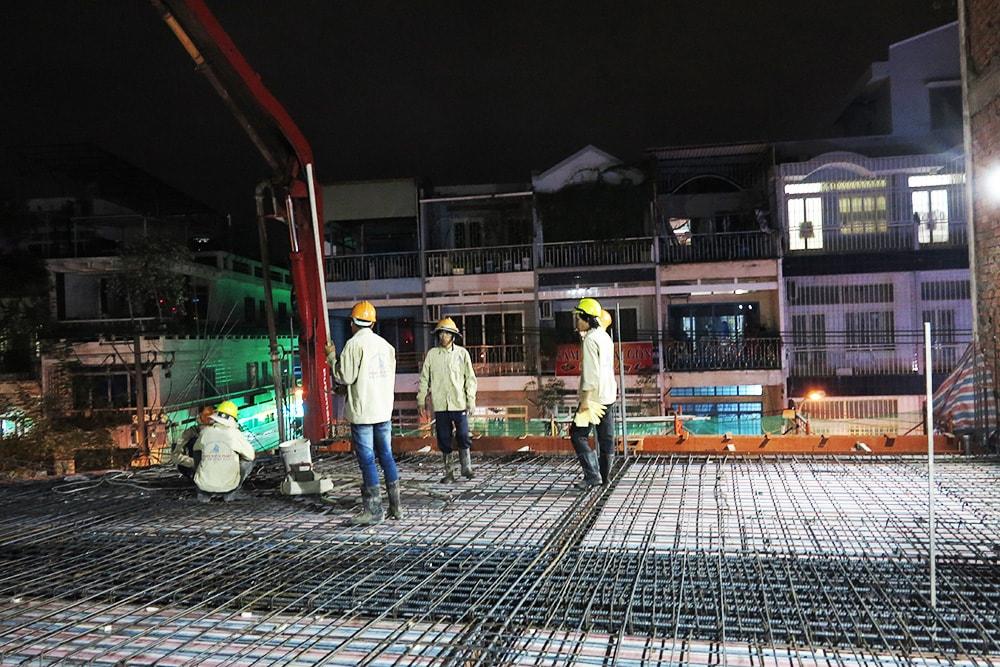 Công tác chuẩn bị đổ sàn lầu 2 góc view 6
