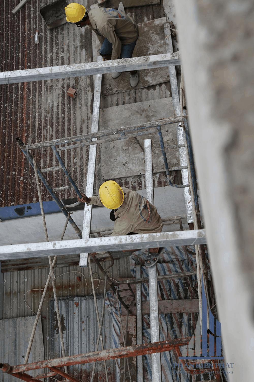 Công tác chuẩn bị tô vách tường ngoài