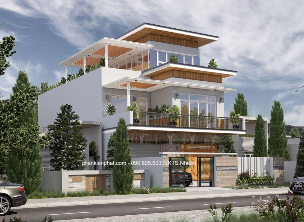 Công trình biệt thự hiện đại 3 tầng diện tích 10x24m