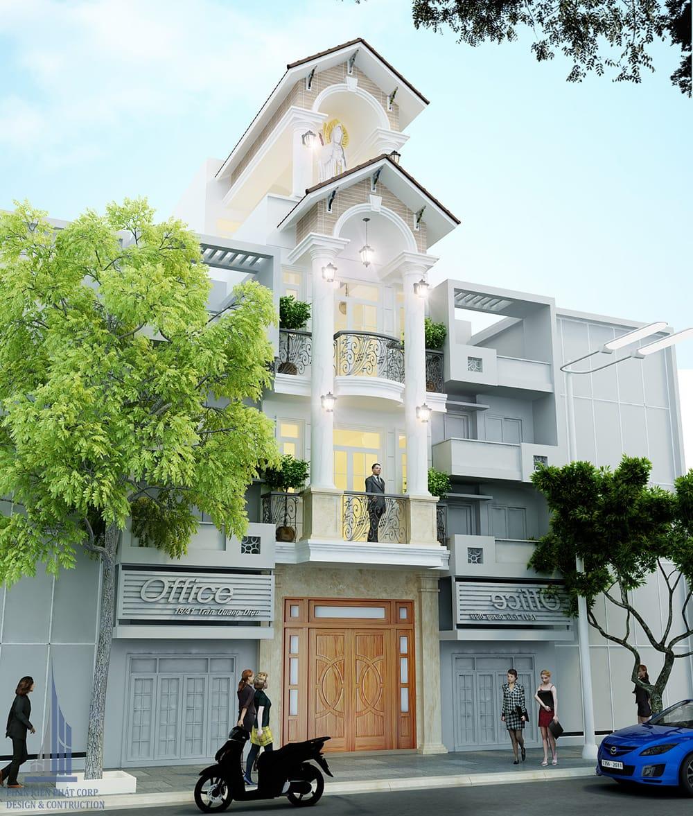 Công trình nhà phố 4 tầng 4x15 tại Tân Phú