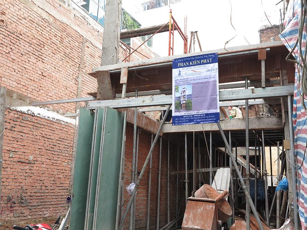 Công trình nhà phố 5 tầng diện tích 3,8mx15m Tại Hoàng Văn Thụ Tân Bình