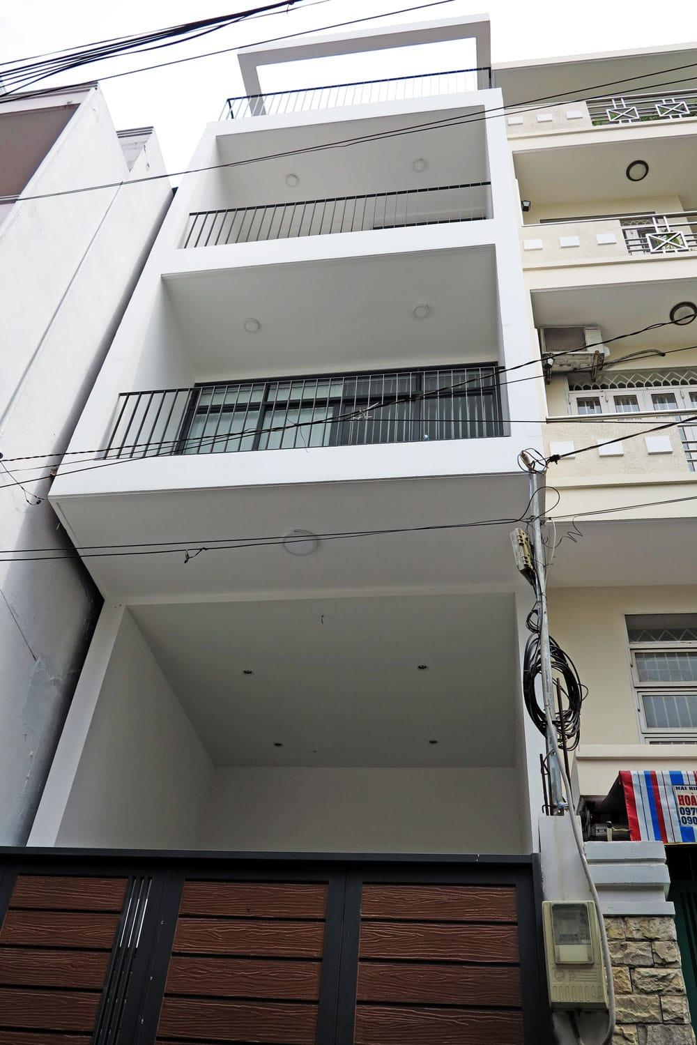 Công trình nhà phố 5 tầng diện tích 4x15m