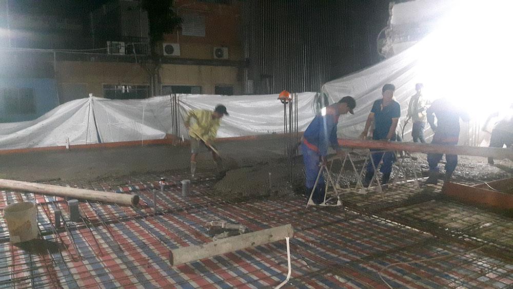 Gia đoạn đổ sàn