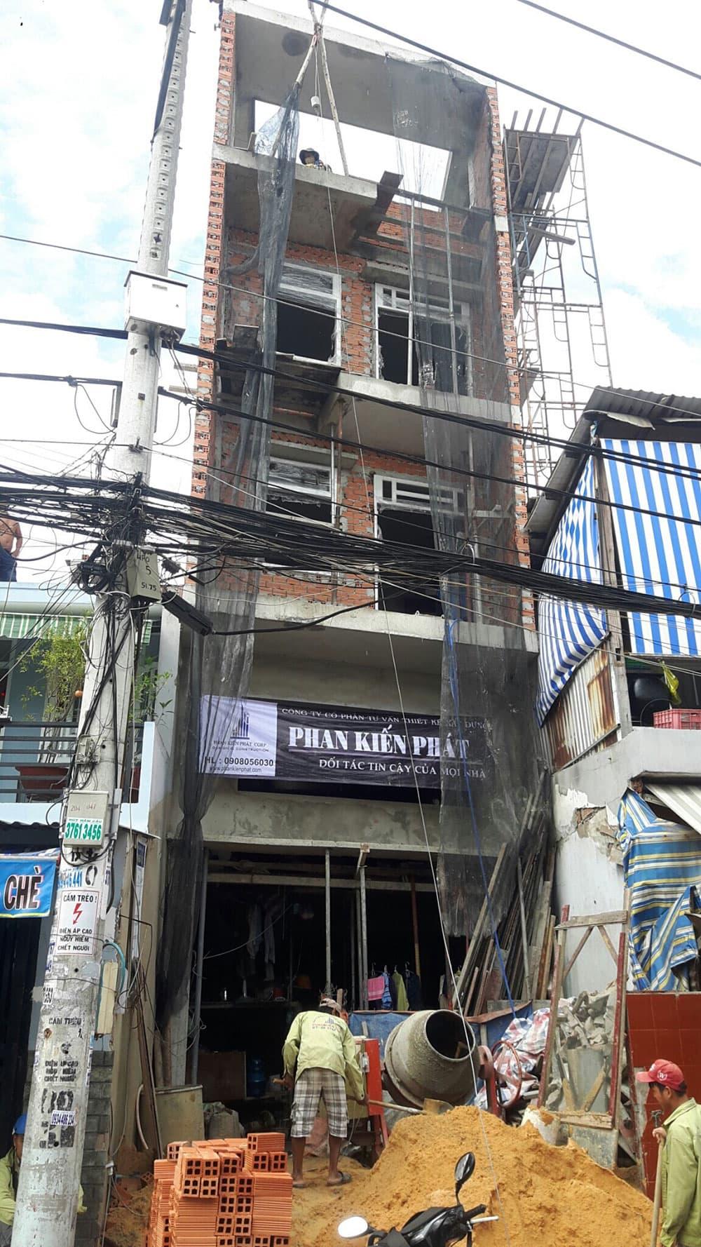 Giai đoạn hoàn thiện nhà phố 5 tầng