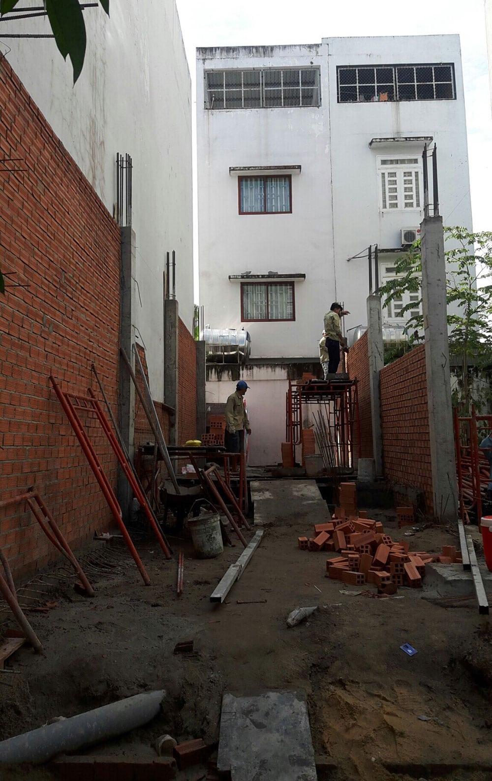 Giai đoạn xây tường