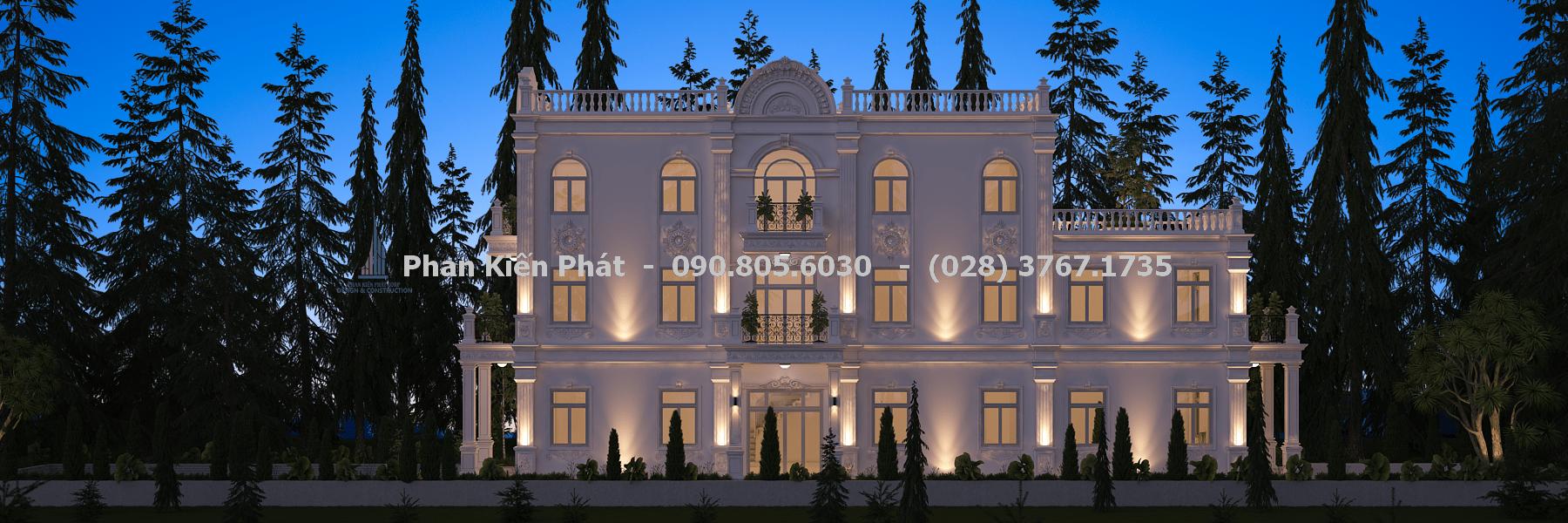 Hệ thống cửa sổ của biệt thự cổ điển bố trí nhiều