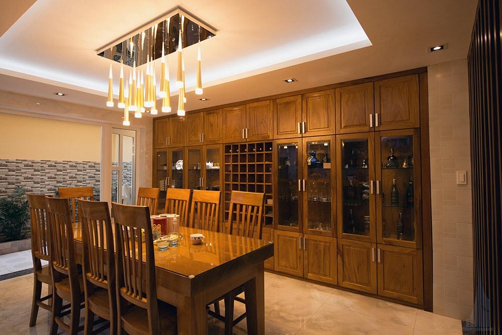Không gian bếp và phòng ăn góc view 4
