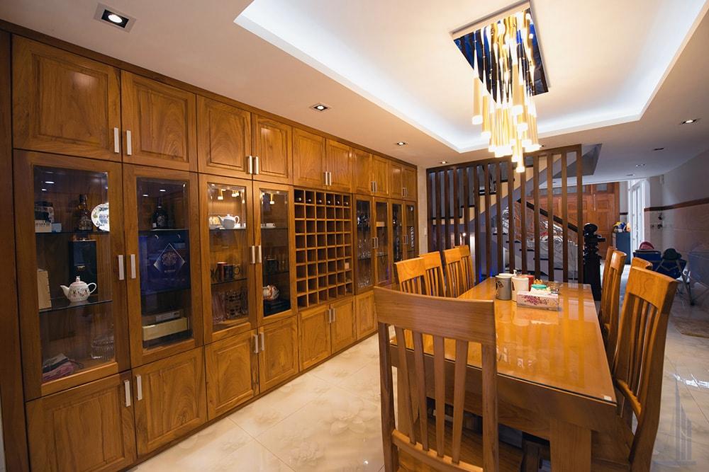 Không gian bếp và phòng ăn góc view 5