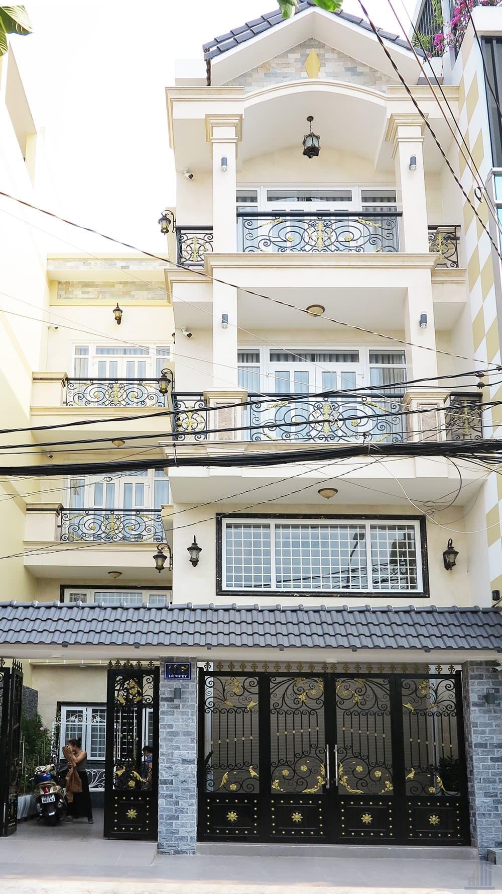 Mẫu công trình thực tế biệt thự phố 4 tầng diện tích 8x15m