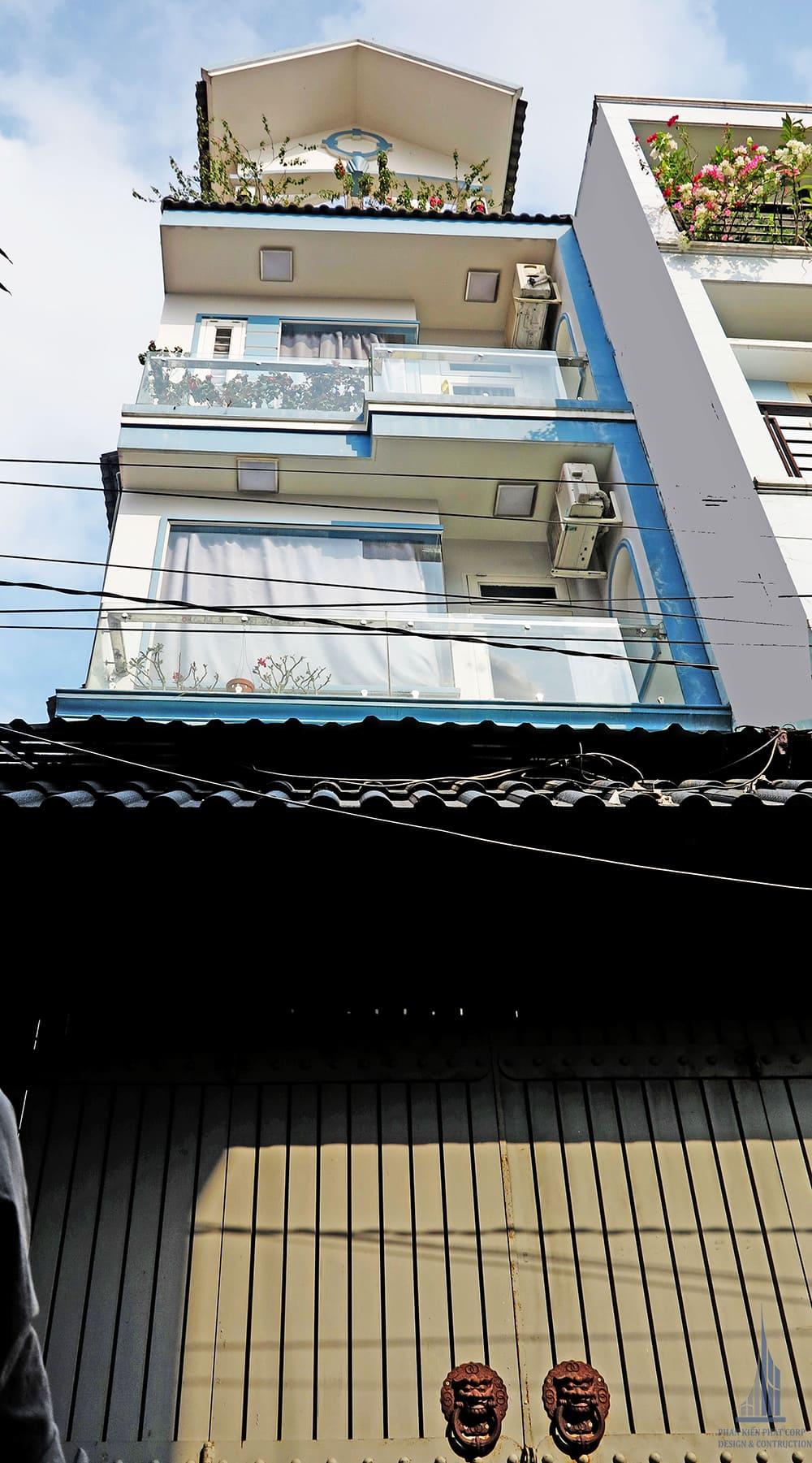 Mẫu nhà phố 4 tầng diện tích 4x13.7m tại Gò Vấp