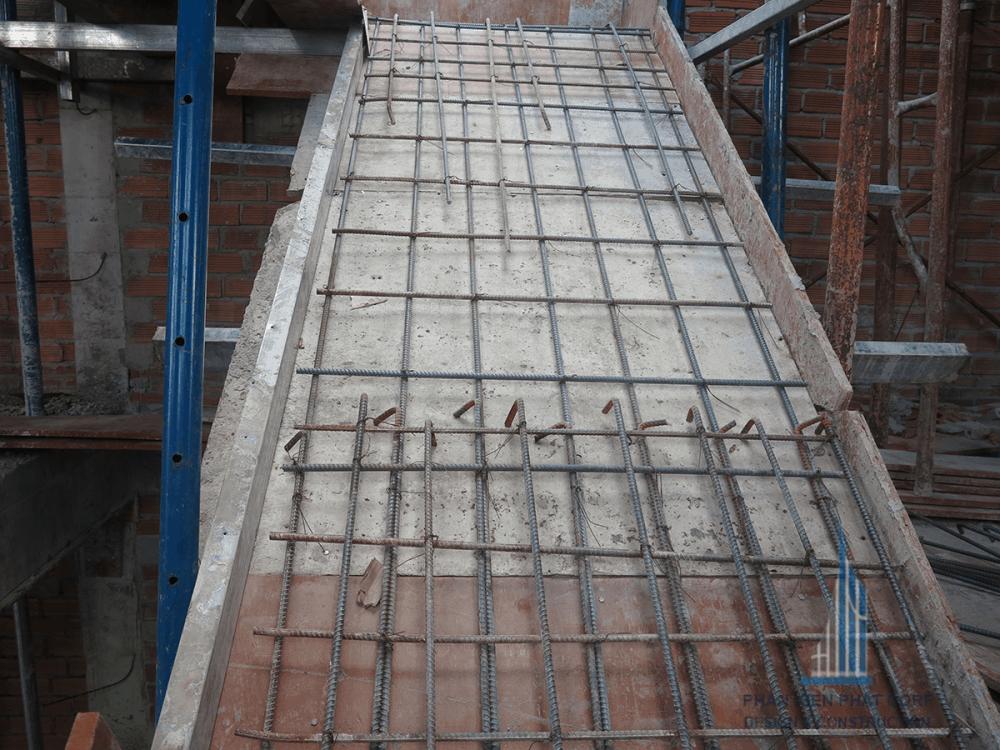 Nghiệm thu sắt sàn cầu thang tầng 3
