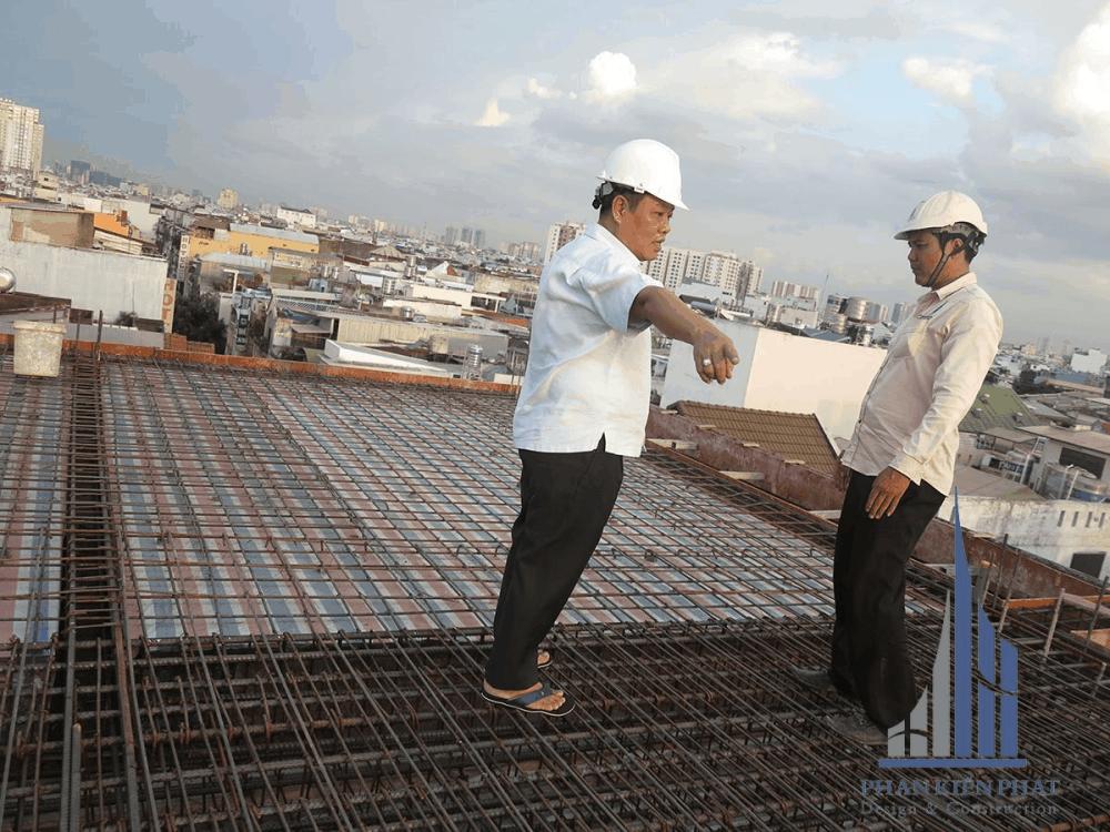 Nghiệm thu sắt sàn tầng mái