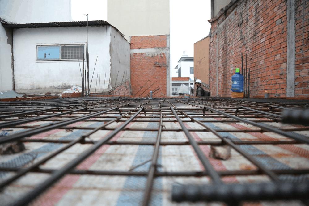 Nghiệm thu sắt sàn trước khi đổ bê tông sàn tầng 1