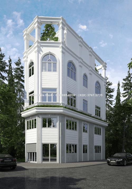 Mẫu nhà phố 1 trệt 3 lầu bán cổ điển