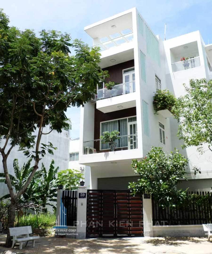 Nhà phố 4 tầng gam màu trắng diện tích 4x15m tại Bình Thạnh