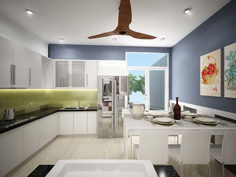 Phòng bếp phong cách sang trọng