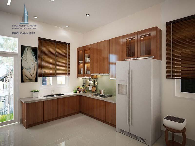 Phòng bếp thiết kế sang trọng