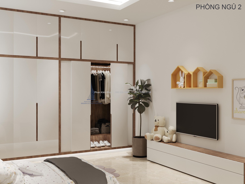Phòng ngủ 2 cho mẫu nhà 1 trệt 2 lầu