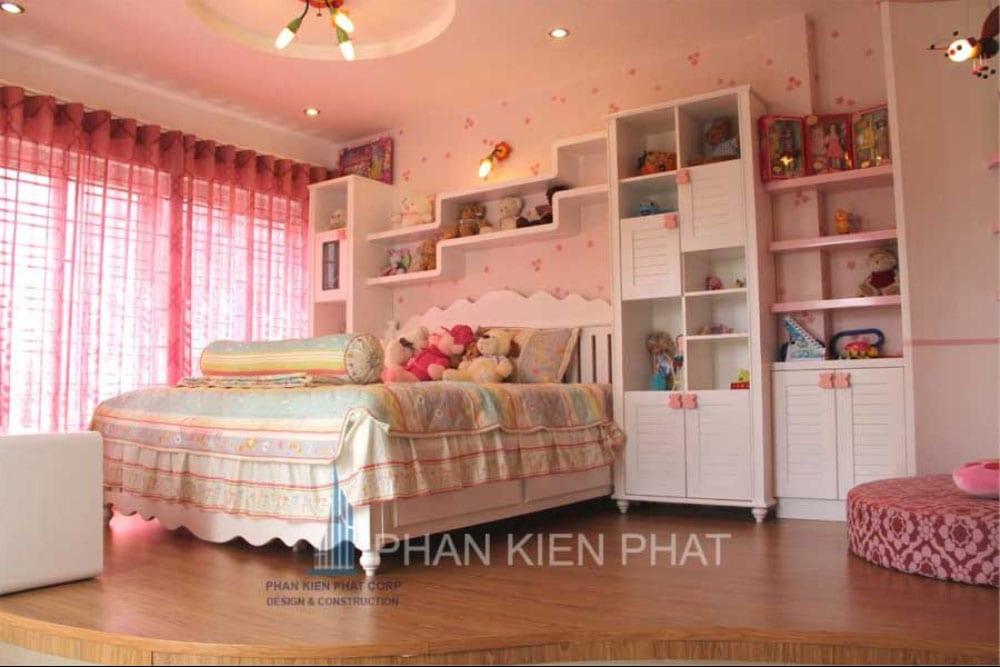 Phòng ngủ con gái của biệt thự mini 3 tầng góc view 1