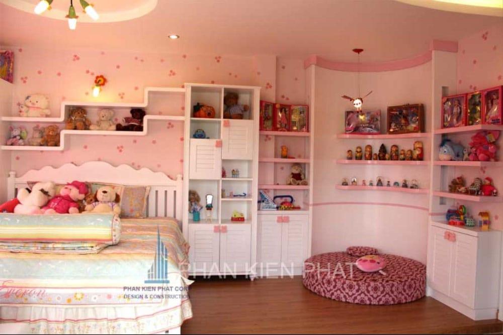 Phòng ngủ con gái của biệt thự mini 3 tầng góc view 2