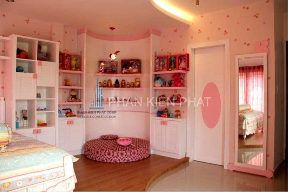 Phòng ngủ con gái của biệt thự mini 3 tầng góc view 3