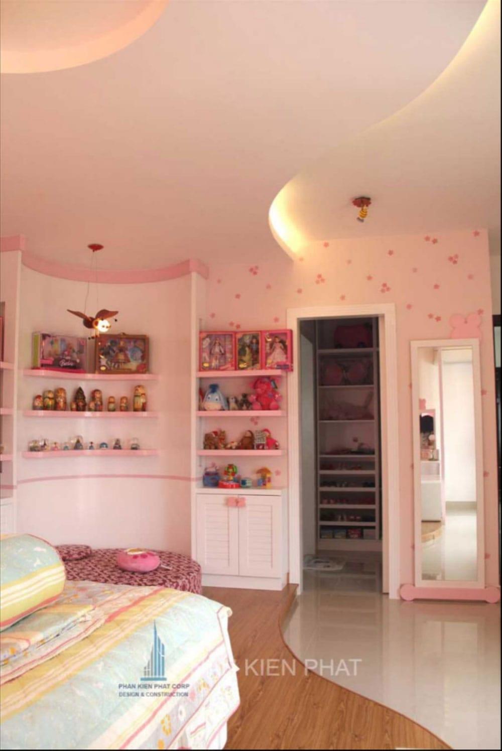 Phòng ngủ con gái của biệt thự mini 3 tầng góc view 5