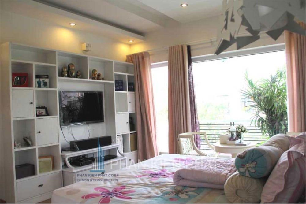 Phòng ngủ master biệt thự mini 3 tầng tại quận 7 góc view thực tế 1