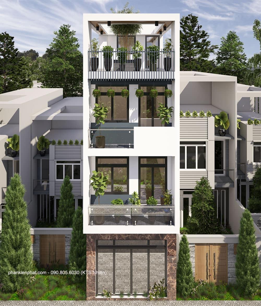 Thi công nhà phố 4 tầng diện tích 4x15m Anh Khoa, Bình Tân, HCM