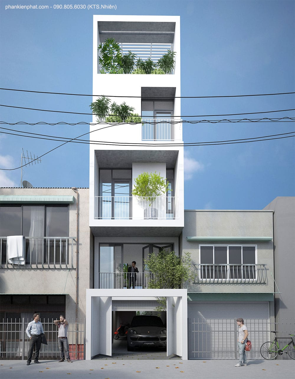 Thi công nhà phố 5 tầng đẹp tại Tạ Uyên, Q11, HCM
