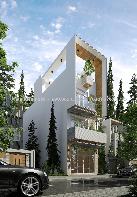 Thiết kế nhà hiện đại có mặt tiền đẹp ấn tượng và tinh tế