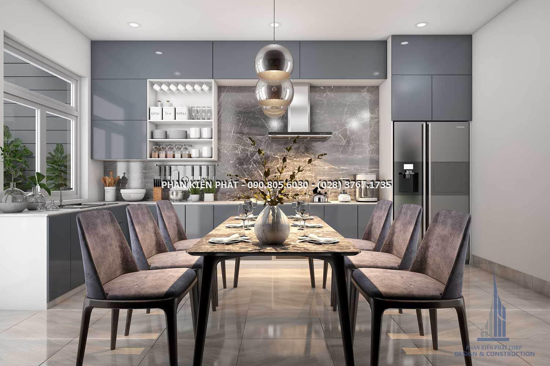 Xu hướng thiết kế phòng bếp – ăn của nhà phố hướng đến sự đơn giản nhưng khoa học và ngăn nắp