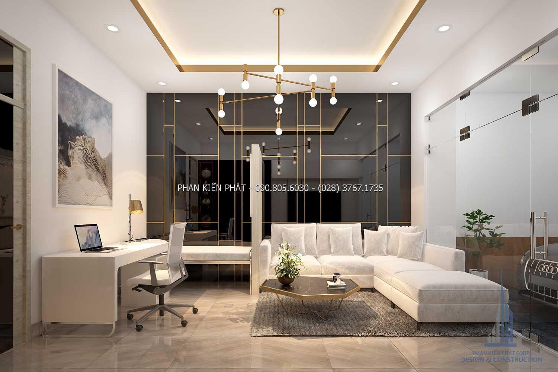 Phòng chờ kết hợp với phòng khám được thiết kế sang trọng và bắt mắt