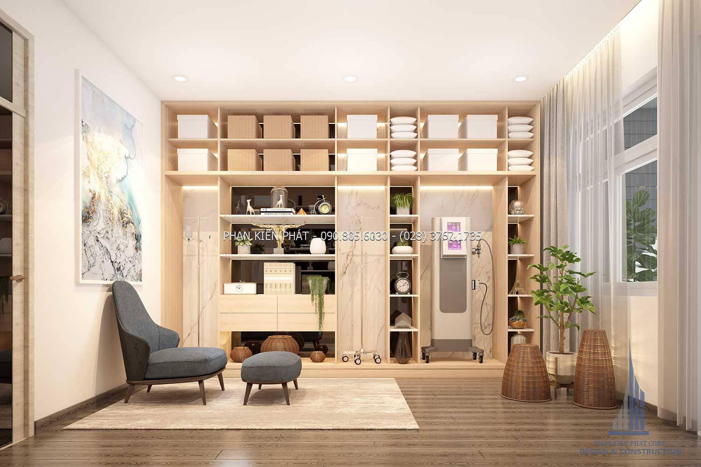 Phòng chứa đồ đẹp ở lầu 4 của mẫu nhà phố 4 lầu