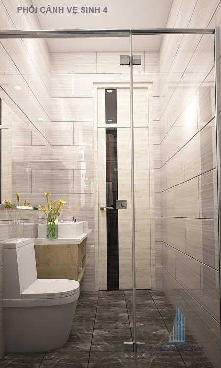 Phòng vệ sinh dành trong bé trai trong mẫu nhà4 lầu
