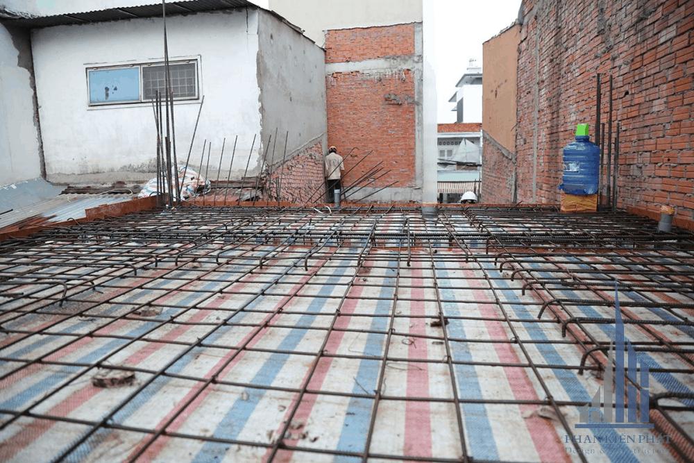 Tổng thể mặt bằng sắt sàn hoàn thiện tầng 2