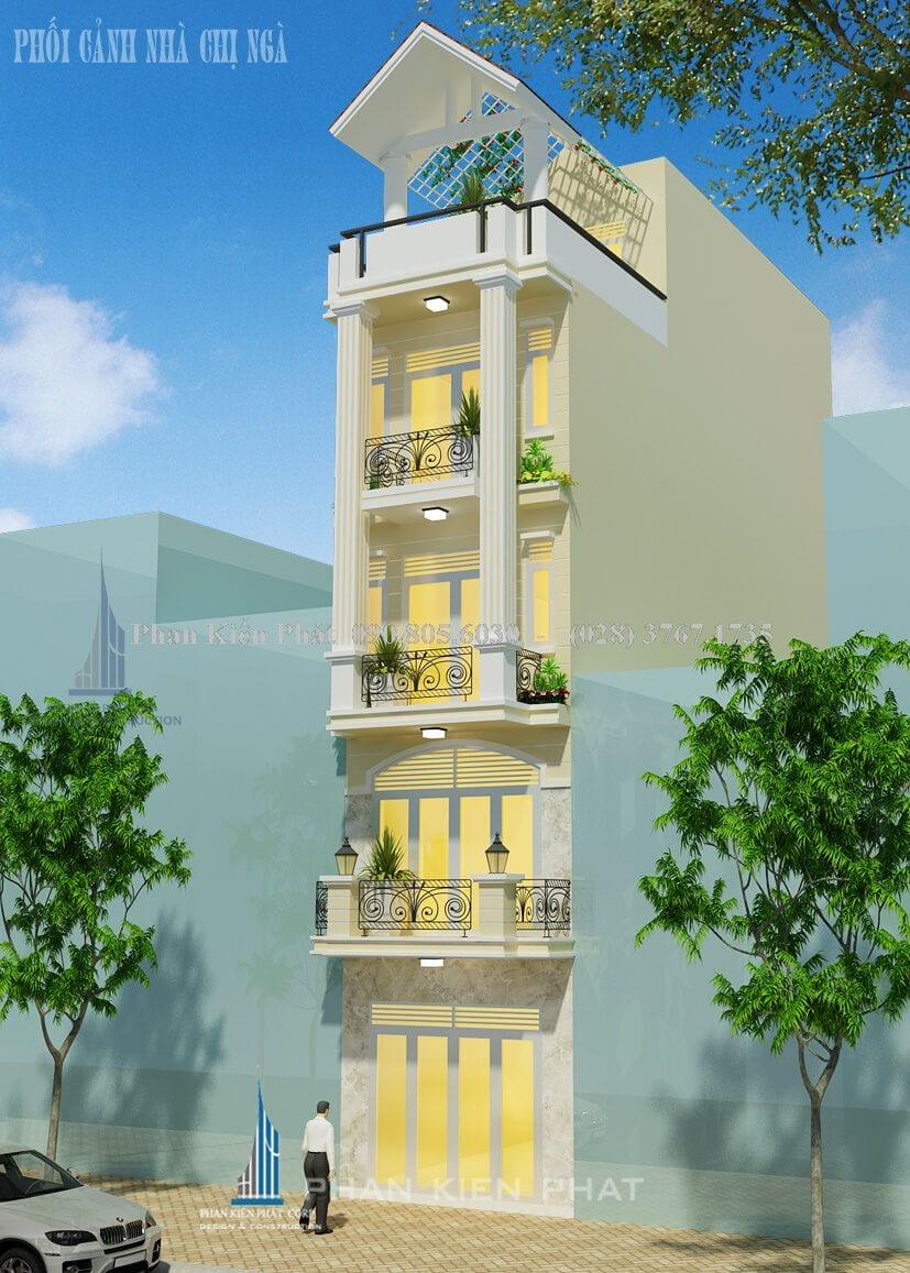 Nhà phố 5 tầng bán cổ điển