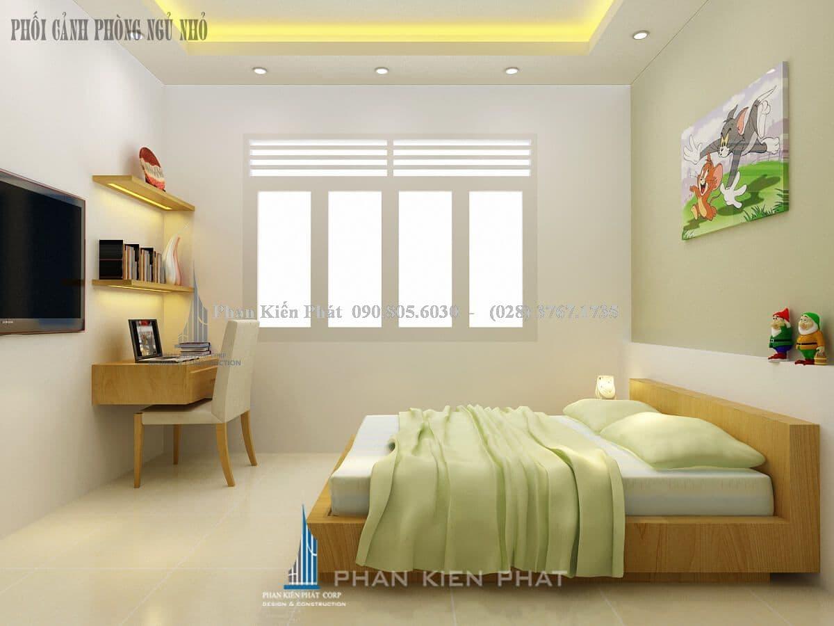phòng ngủ nhỏ view 1 nhà bán cổ điển