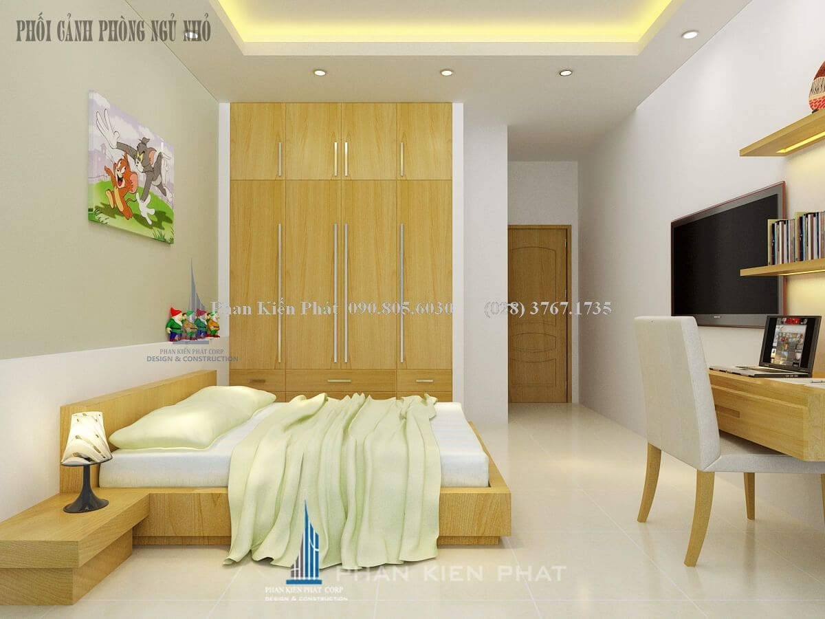 phòng ngủ nhỏ view 2 nhà bán cổ điển