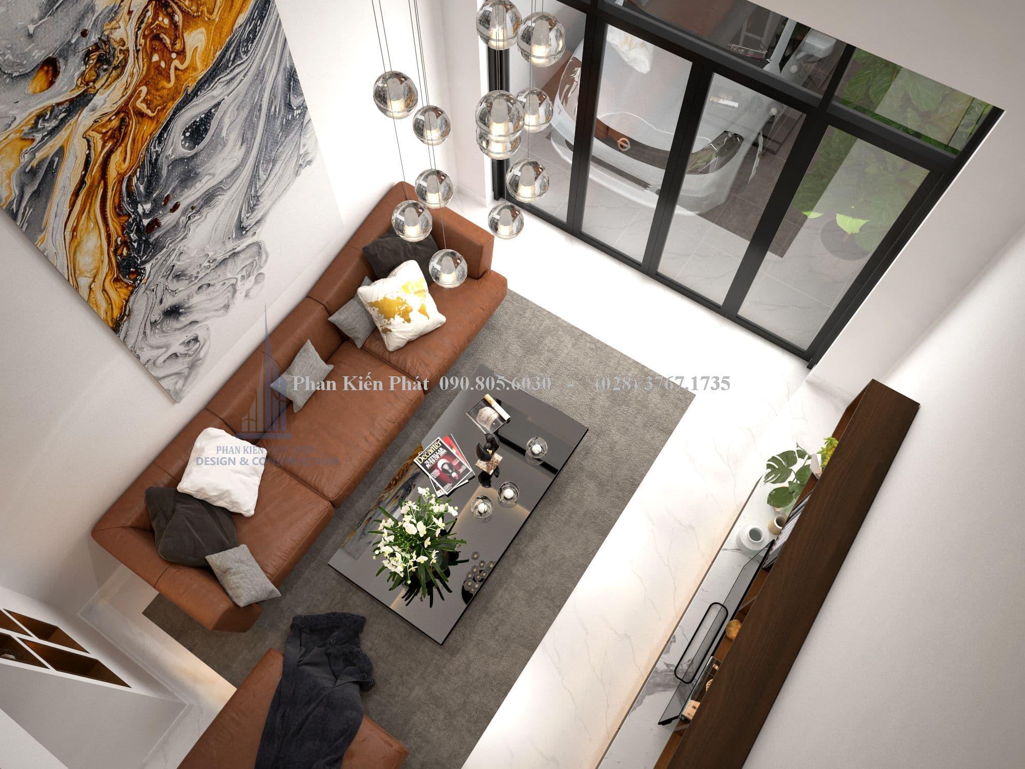 Đèn chùm cao cấp sẽ tạo điểm nhân ấn tượng cho phòng khách