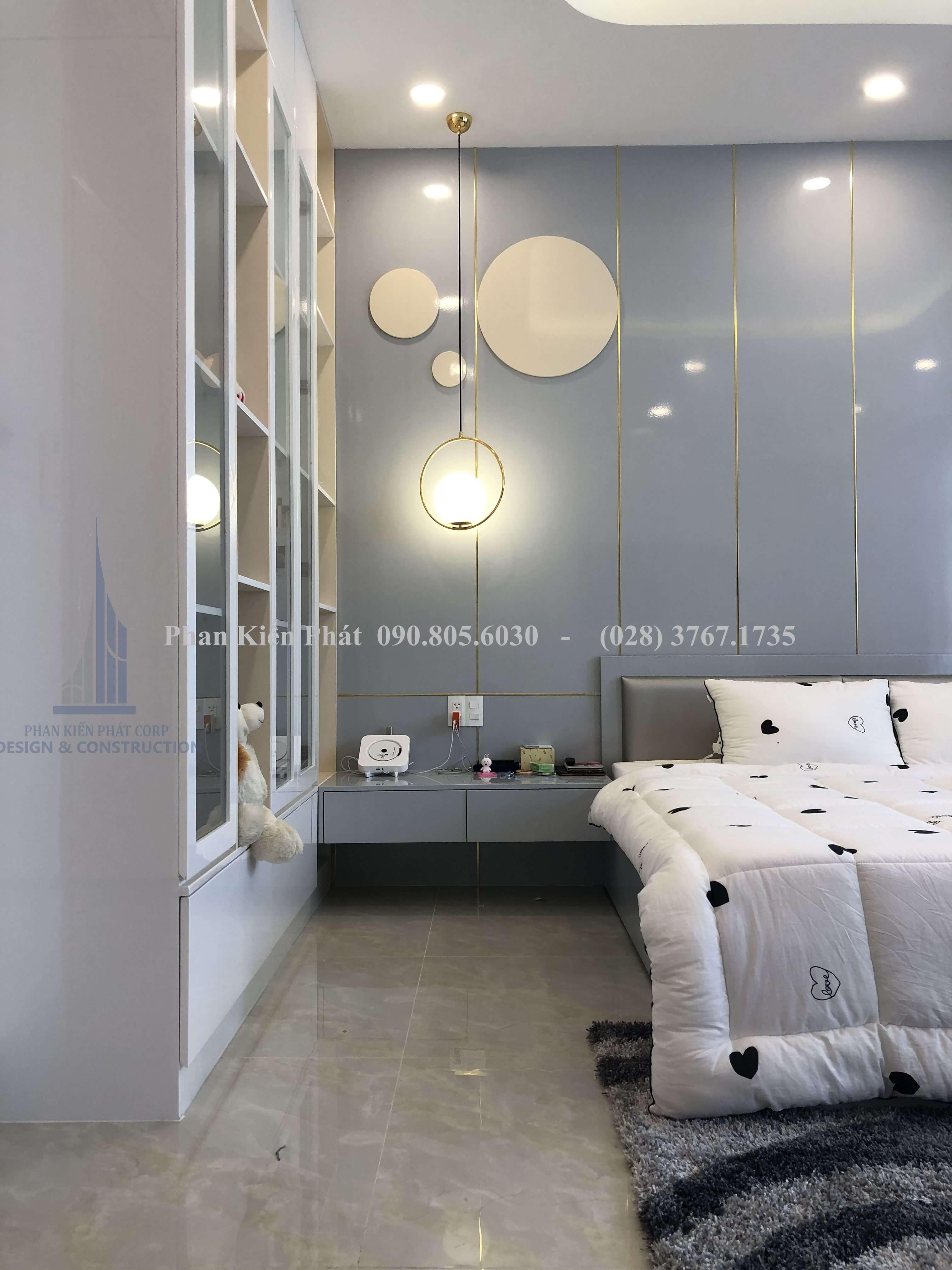 Nội thất phòng ngủ 3 hoàn thiện phan kiến phát thực hiện góc view 2