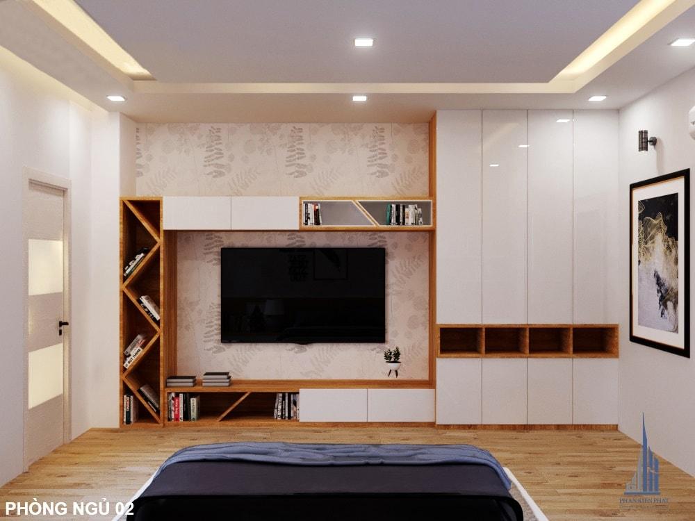 Thiết kế nội thất phòng ngủ hiện đại nhà phố 3 tầng góc view 2