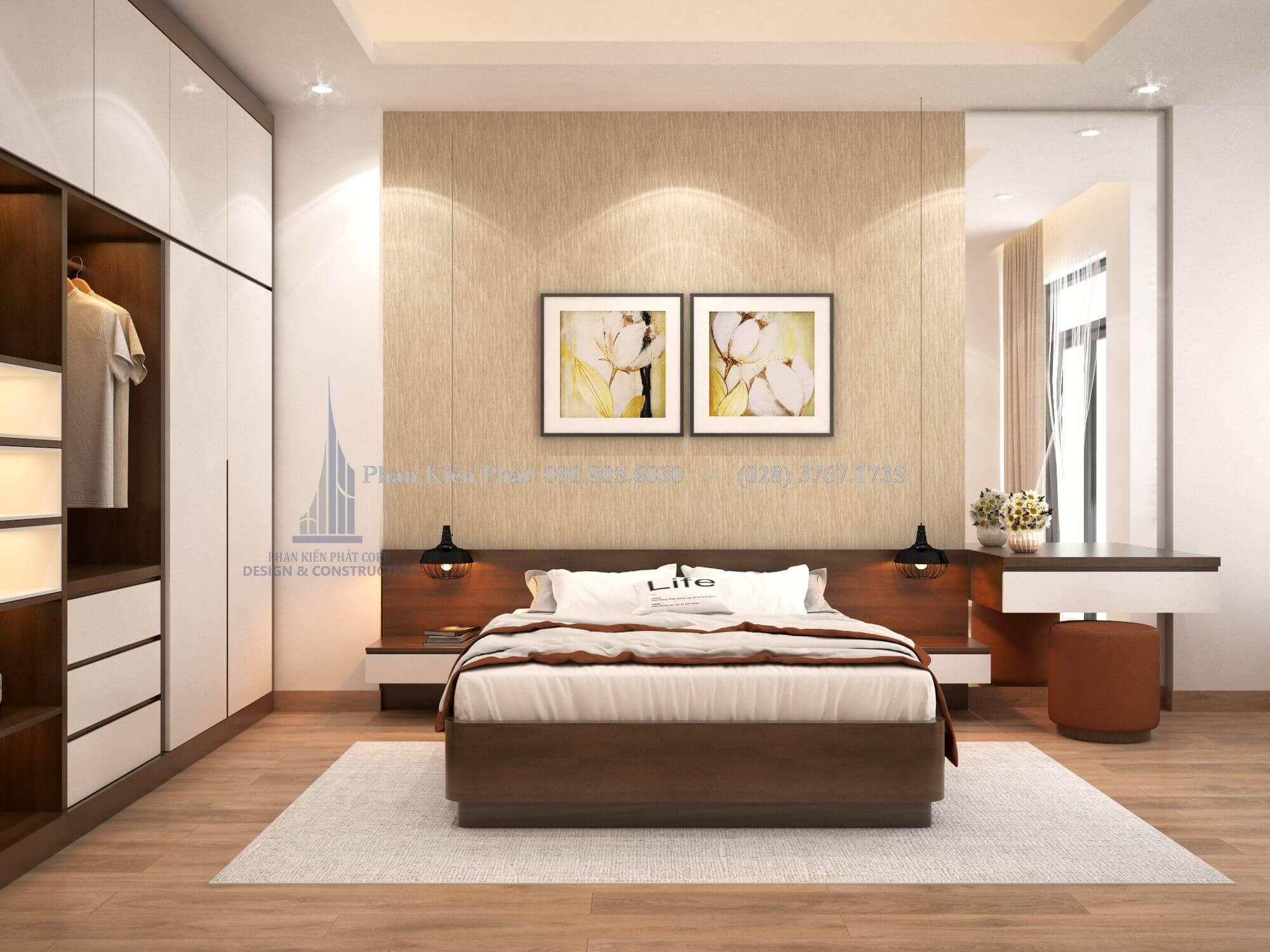 Mẫu thiết kế phòng ngủ hiện đại sang trọng
